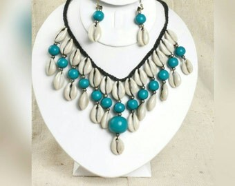 African cowrie shell necklaces!