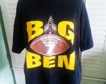 Vintage T shirt, vintage Big Ben T shirt, vintage sport t shirt, vintage football t shirt, vintage distress t shirt