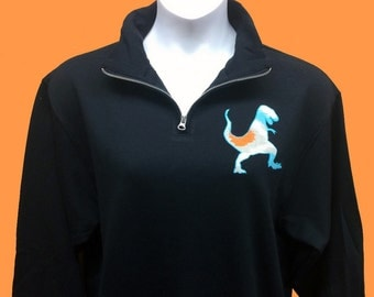 Custom Applique Quarter Zip Sweatshirt