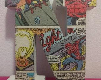 Spiderman Comic Monogram N