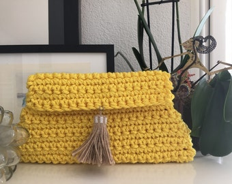 Knitted  HandBag Tassel
