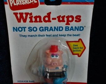 Wind Up Toy//Playskool Wind Ups//Not So Grand Band//Marching Pig