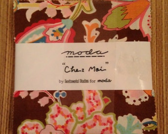 """MODA Charm Pack: Chez Moi by Sentimental Studios for Moda -- 38 5"""" x 5"""" squares 100% cotton - QUILTING"""