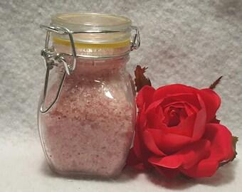 Rose sugar scrub