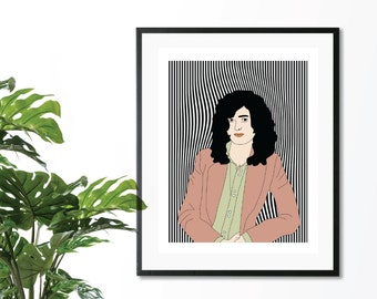 Jimmy Page Illustration Digital Print Download