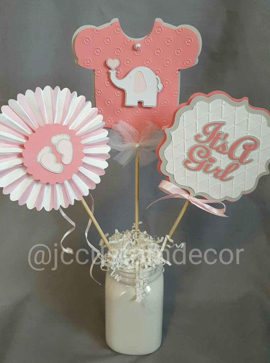 baby shower girl centerpiece its a girl centerpiece baby