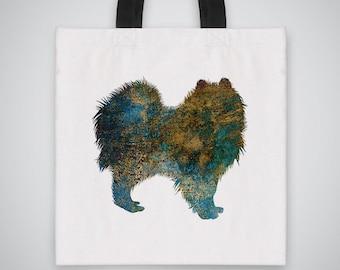 Spitz silhouette Tote Bag - Art Tote - Market Bag - Shoulder Bag - Canvas Bag