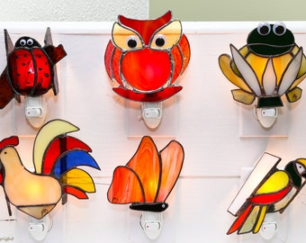 Animal pilot in Tiffany stained glass