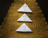 Mustard and Black Triangle Woven Wall Hanging