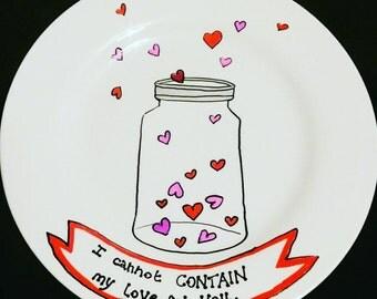 Valentine's jar plate