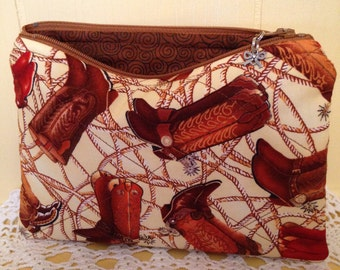 Boots Zippered Everything Bag