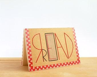 Read - Handmade A6 Notebook