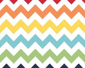 Rainbow Chevron Medium by Riley Blake Designs - C320-01 -100% Cotton Woven Quilt Fabric - by the yard fat quarter half