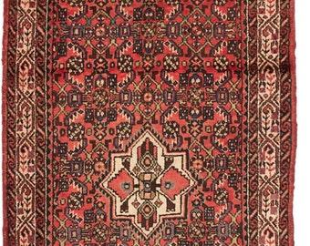 """Vintage Persian Hosseinabad Rug, 3'7"""" x 12'8"""""""