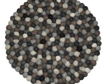 Handmade felt ball hotpads,