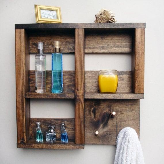 Bathroom shelf decor for Bathroom decorative shelves