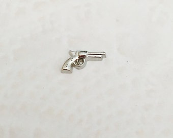 Gun floating charms for memory lockets
