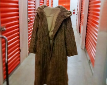 Vintage faux Fur with hood