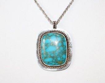 Sterling Turquoise Pendant