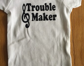 Trouble Maker music baby onesie