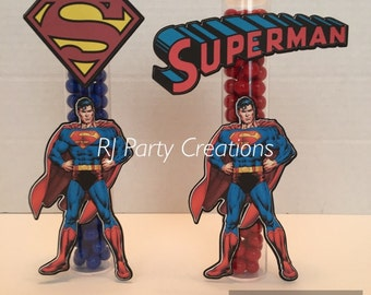 12 Superman  Candy Tubes