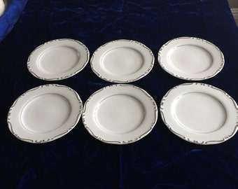 "Ucagco ""Heirloom"" China Salad/Dessert Plates  - Set of 6"
