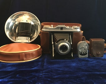 Vintage Agfa Isolette I Camera with Accessories