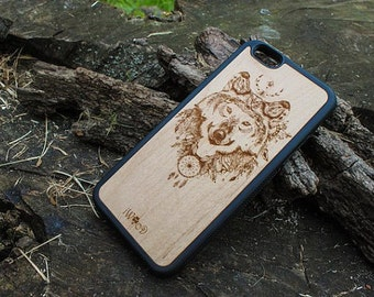 Wolf iPhone 6 Case Marble, iphone 5 case elephant,iphone 5 case silicone cover, iphone 6 plus case wood, iphone 5 case protective