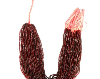 Garnet Faceted Beads Semi Precious Stone Beads (Per String)