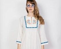 Beautiful Retro Hippie/Boho/Folk/Flower Child Dress - JC Penny