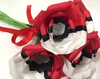pokeball roses, pokemon flower, pokerose, pokemon gift, pokemon gifts, nerdy gift ideas, geeky gift, nerdy gift, anime gift