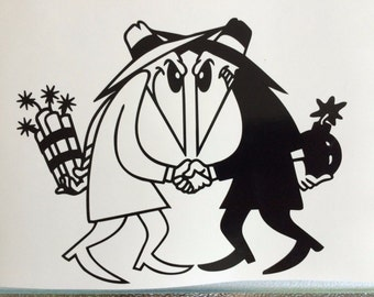 "Spy Vs Spy MAD Magazine Alfred E Neuman Decal Sticker Wall Laptop Car 5"""
