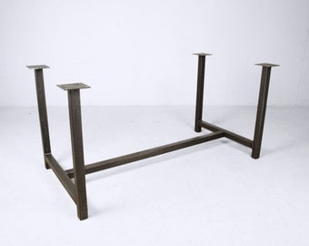 steel tresle frame black steel table frame industrial table frame modern table frame contemporary design
