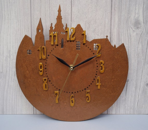handmade wooden clocks wall clock city wood clock unique wall clock handmade 8736