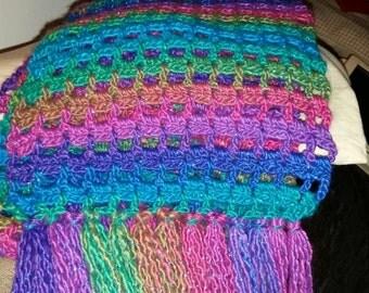 Rainbow sparkle scarf