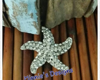 Bride starfish broche,Bridal beach bouquet, Beach wedding,Beach starfish brooche,Beach wedding dress Bridal accessories,Wedding jewelry,