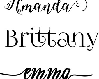 Personalized name decal, vinyl name sticker, custom name decal, monogram, computer decal, Yeti decal