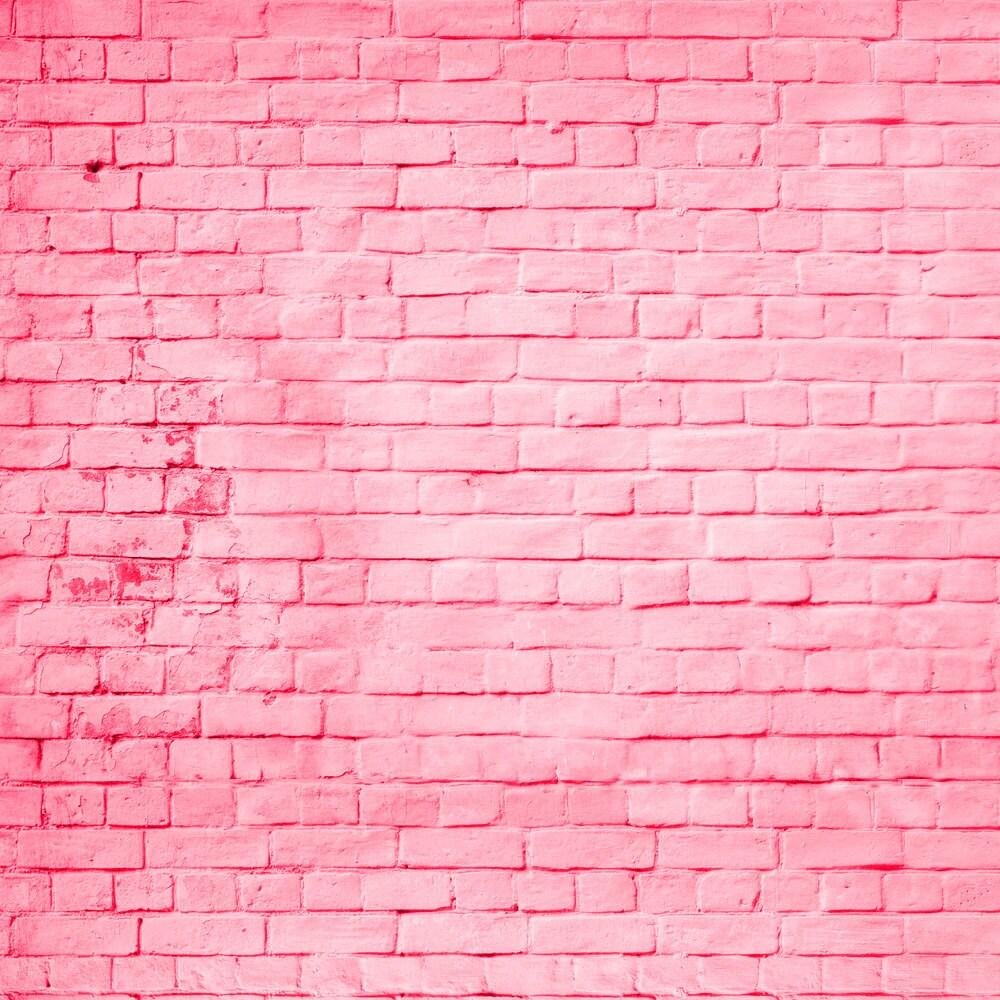 Pink Brick Backdrop - colored pink brick wall - Printed ...