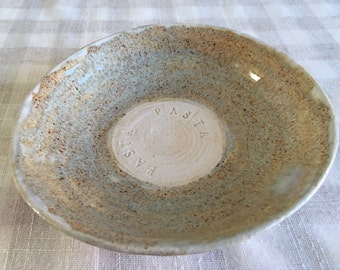 Pasta Bowl / Ceramic Pasta Bowl/ Ceramic Bowl/ Pasta Dish / Stoneware Serving Bowl/ TV Dinner Bowl