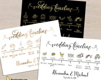 wedding itinerary template pdf small rustic printable wedding timeline program template welcome card poster sign icons