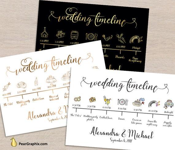 Wedding Day Timeline: Wedding Timeline Printable Wedding Day Timeline Wedding