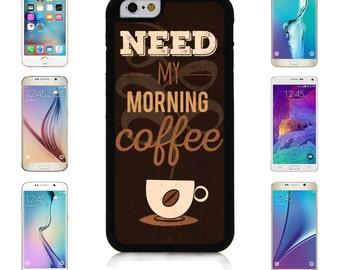 Cover Case for Apple iPhone 7 7 Plus 6 6S Plus Samsung Galaxy S7 Edge S6 Plus Note 5 6 7 8 9 10 att sprint verizon My Morning Hot Coffee