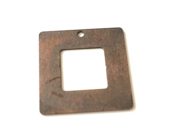 20x20 mm 30 pcs  Copper  Square Brass charms ,blank,pendant,findings