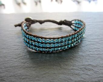 Crystal Blue Crystal Bracelet