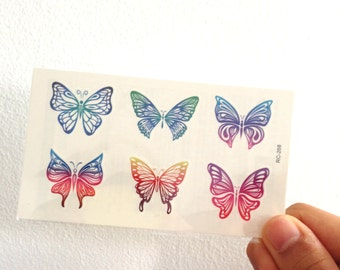Butterflies #2 - Temporary Tattoos // Body Art // Cool // Tumblr Style // Summer // Party