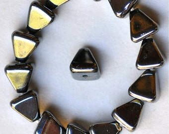 8mm Pyramid Glass Bead - Czech Glass Beads - Various Colors Matte or Shiny - Qty 25