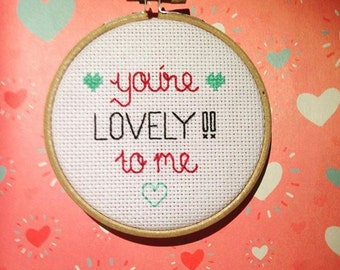 "Love embriodery hoop quote 4"""