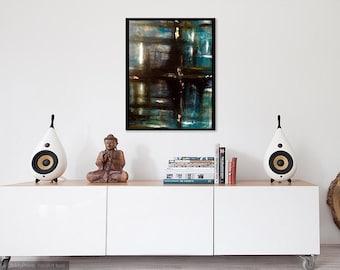 Original, Abstract, Black, Acrylic
