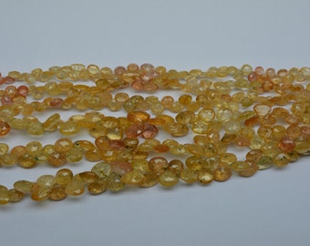Brand New 100% Natural Gemstone Imperial Topaz Brilliant Quality Great Color Natural Gemstone Beads Brand New Natural Full 4 Inches Strand