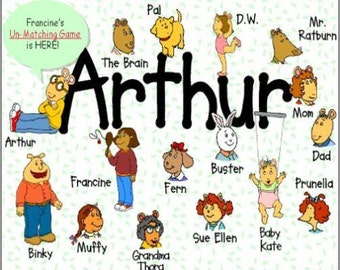 "2"" x 3"" Magnet Arthur Children's TV"